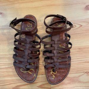 Sam Edelman brown Gilda gladiator sandals